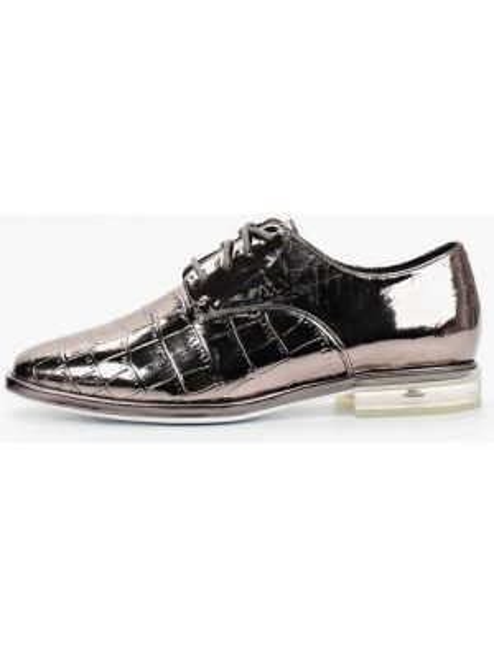 Серебряные кожаные оксфорды Mascotte