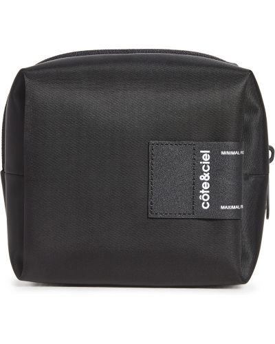 Черная текстильная косметичка с подкладкой Cote & Ciel