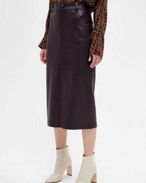 Кожаная юбка фиолетовый салатовый Lime