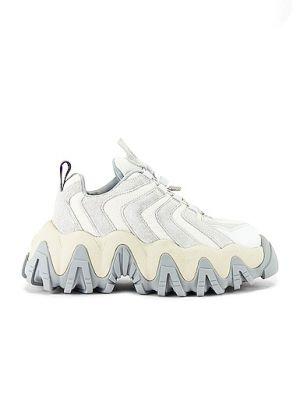 Szare sneakersy na platformie sznurowane Eytys