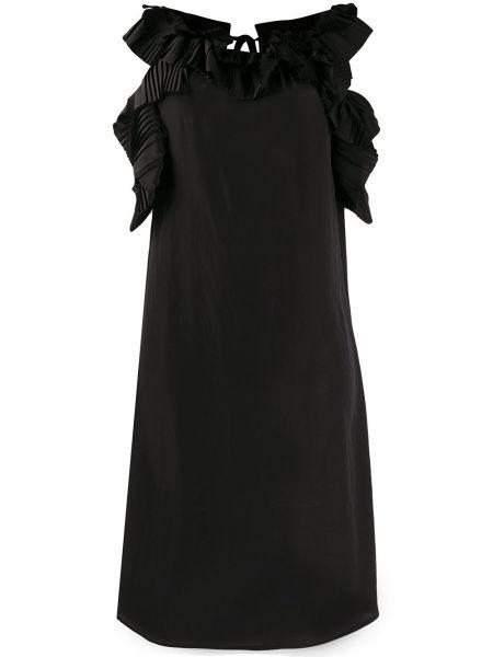 Платье миди на пуговицах черное P.a.r.o.s.h.