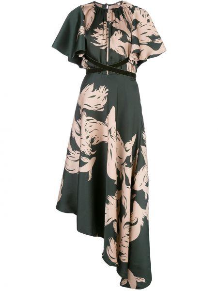 Платье с абстрактным принтом приталенное Johanna Ortiz