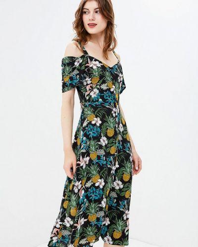 Платье с открытыми плечами осеннее Yumi