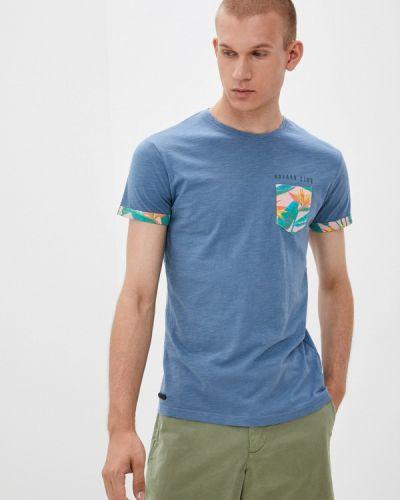 Синяя футболка осенняя Hopenlife