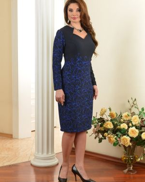 Деловое с рукавами платье на молнии с вырезом Salvi-s