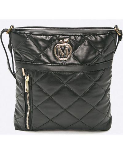Черная сумка через плечо Manzana