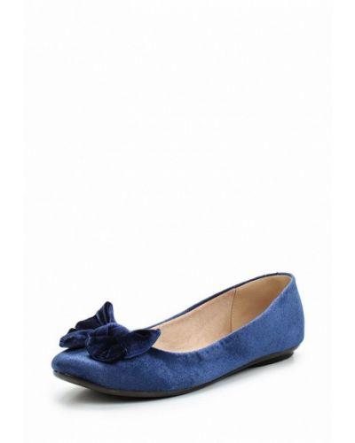 Синие балетки Moleca