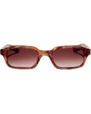 Fioletowe okulary srebrne Flatlist Eyewear