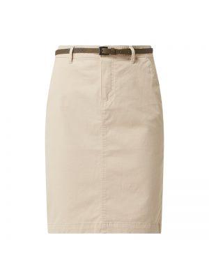 Spódnica ołówkowa bawełniana - beżowa Montego