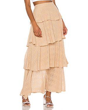Хлопковая юбка с оборками на молнии Sundress