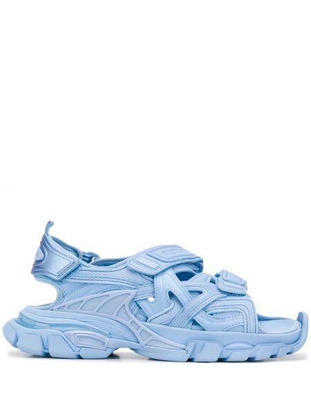 Otwarty niebieski z paskiem sandały otwarty palec u nogi Balenciaga