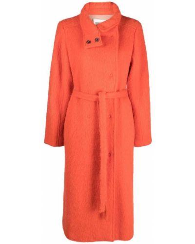 Оранжевое шерстяное пальто Semicouture