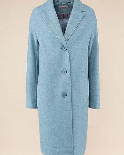 Шерстяное пальто классическое с воротником на пуговицах синар