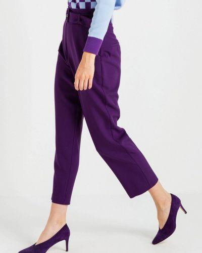 Фиолетовые брюки повседневные Bgn