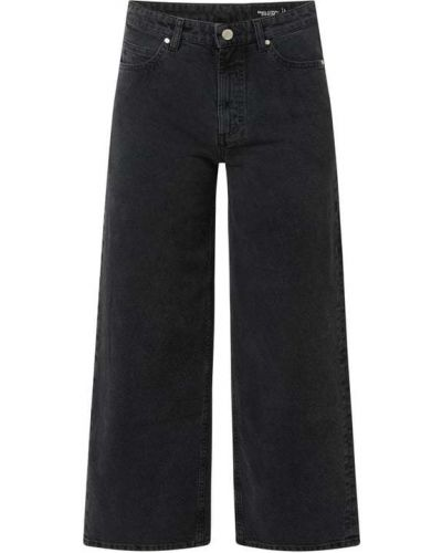 Spodnie z wysokim stanem - czarne Marc O'polo Denim