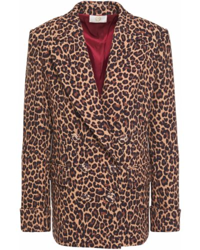 Текстильный пиджак двубортный с карманами Sara Battaglia