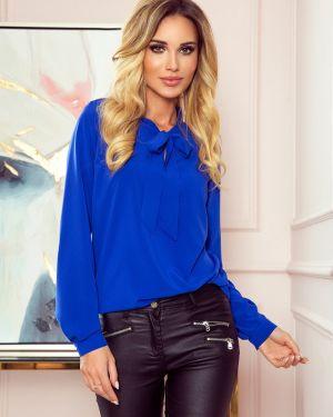Niebieska bluzka z wiskozy oversize Numoco
