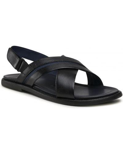 Sandały skórzane - czarne Gino Rossi