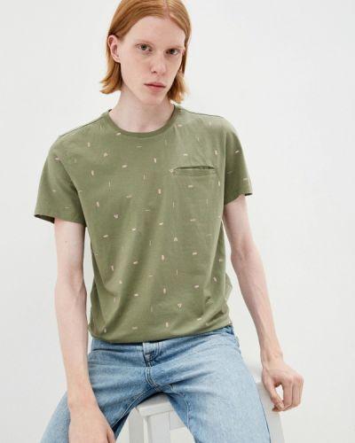 Зеленая футболка с короткими рукавами Brunotti
