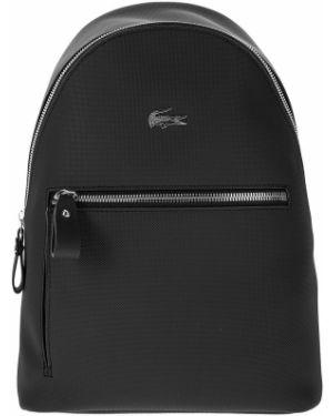 Рюкзак на молнии черный Lacoste