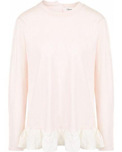 Розовая футболка с оборками Clu