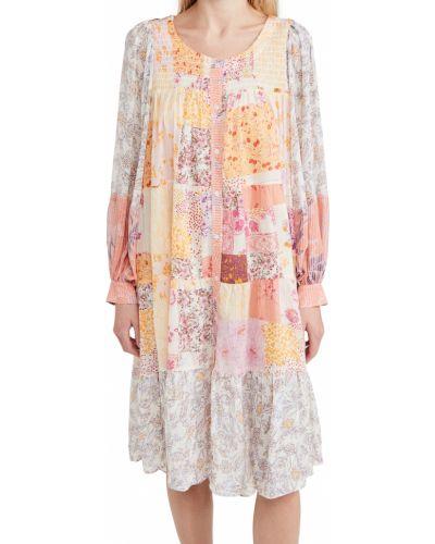 Шифоновое платье миди свободного кроя в цветочный принт Free People