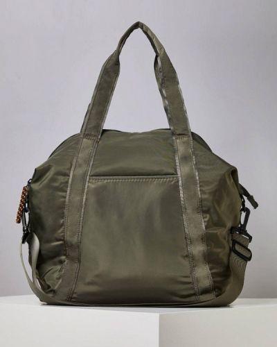 Спортивная сумка зеленый хаки Oysho