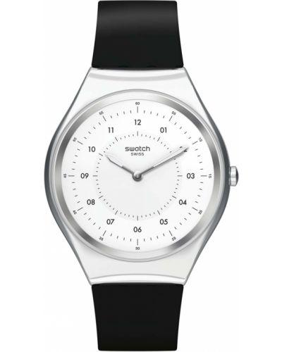 Силиконовые белые часы водонепроницаемые Swatch