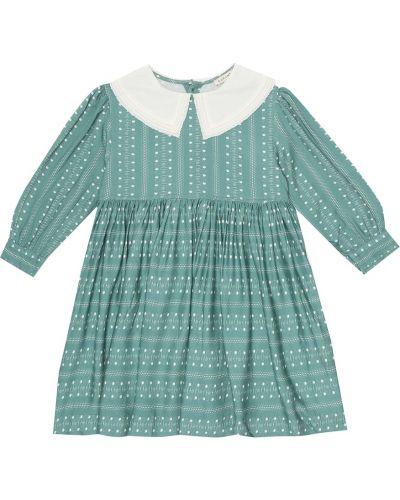 Зеленое платье из вискозы Caramel