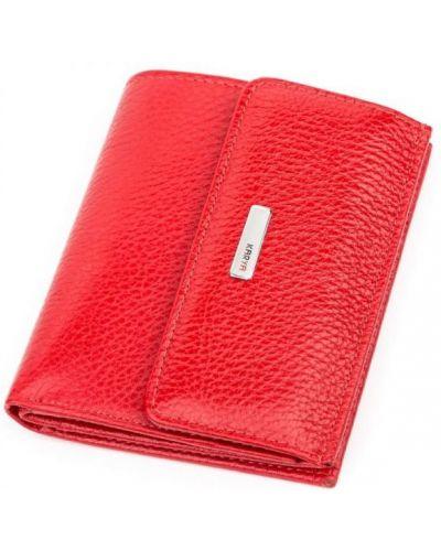Кожаный кошелек - красный Karya