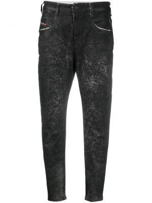 С завышенной талией черные прямые джинсы бойфренды Diesel