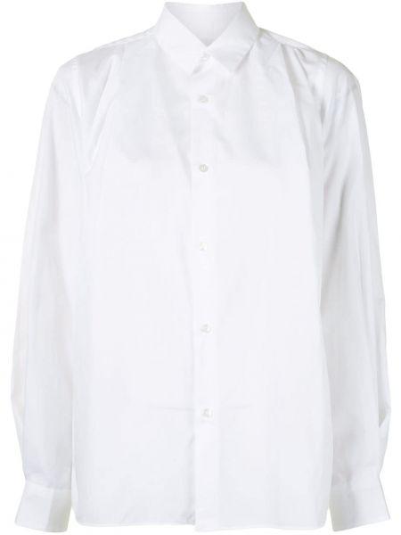 Белая классическая рубашка с воротником оверсайз на пуговицах Comme Des Garçons Noir Kei Ninomiya
