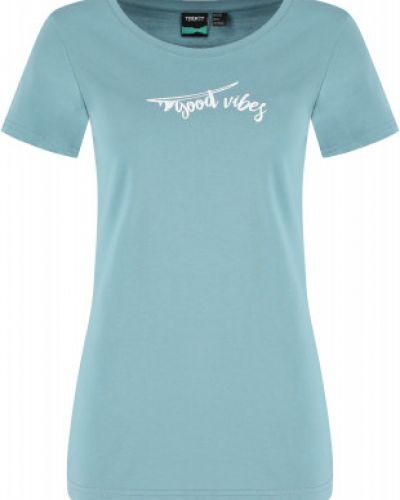 Прямая хлопковая синяя футболка Termit