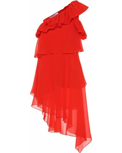 Czerwony jedwab sukienka Givenchy