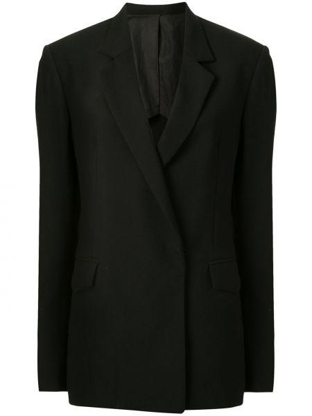 Черный приталенный пиджак с карманами Dion Lee