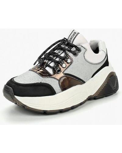 Серые кроссовки низкие Bronx