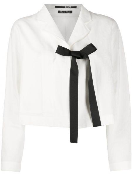 С рукавами белая куртка с воротником Mcq Alexander Mcqueen