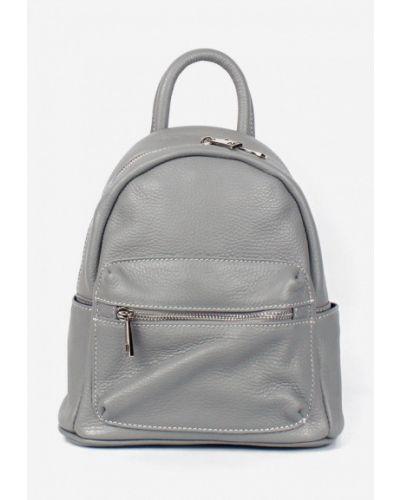Кожаный рюкзак - серый Bella Bertucci
