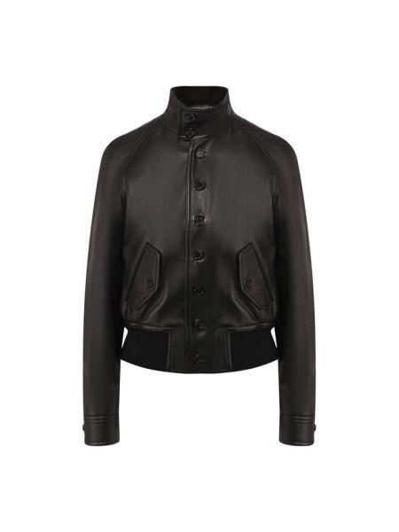 Кожаная облегающая кожаная куртка с кокеткой с поясом Ralph Lauren