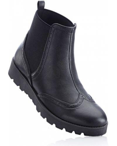 Черные ботинки челси Bonprix
