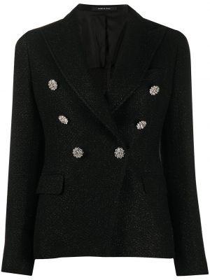 Классическая черная куртка с лацканами на пуговицах Tagliatore