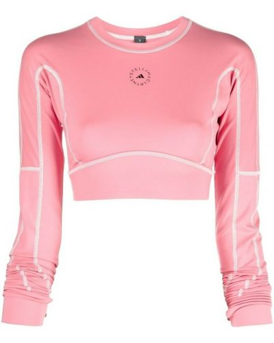 Różowa koszulka Adidas By Stella Mccartney
