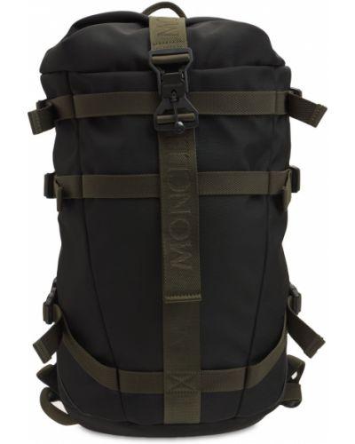 Czarny plecak zamszowy Moncler