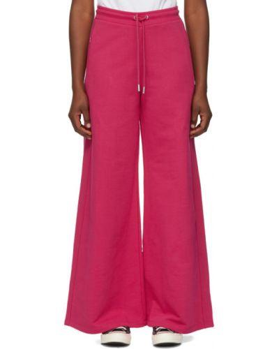 Махровые расклешенные розовые свободные брюки с карманами Opening Ceremony