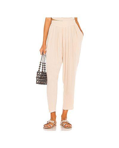 Плиссированные брюки с накладными карманами из вискозы Indah