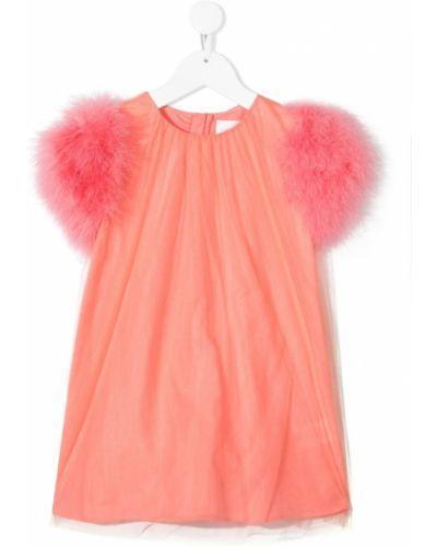 Różowa sukienka bawełniana Charabia
