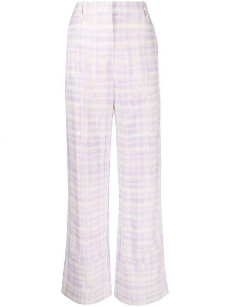 Spodnie z wysokim stanem z paskiem - białe Jacquemus