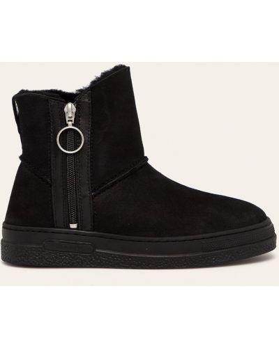 Ботинки на каблуке замшевые зимние Gant