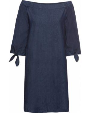 Платье мини джинсовое синее Bonprix