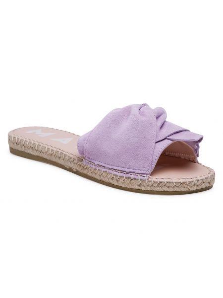 Fioletowe sandały zamszowe Manebi